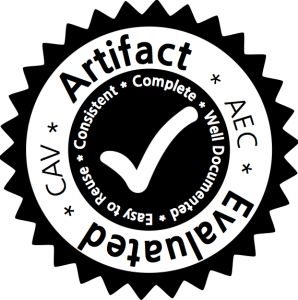 the CAV'15 artifact evaluation badge